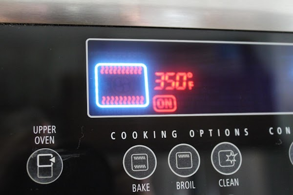 oven preheated to 350