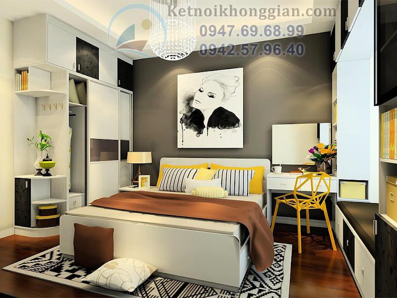 thiết kế phòng ngủ thời thượng