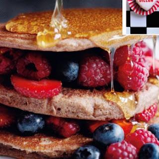 Berry And Chocolate Buckwheat Hotcakes.
