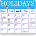 Holiday Calendar Free icon