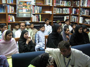 Photo: A Q/A Session by Dr. Tanvir Arif , to get feed back from participants. International Wetland Day, LC Karachi, Feb 02, 2008
