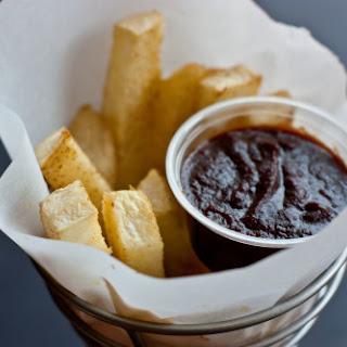 Jicama Fries with Balsamic Ketchup