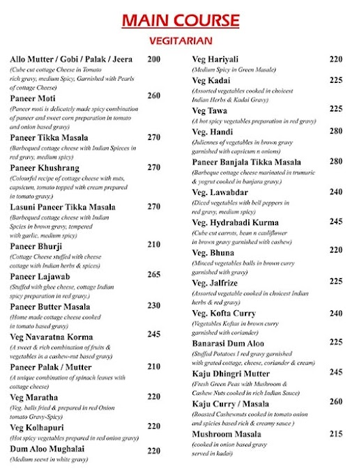 Utsavv menu 5