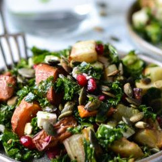 Crispy Kale Salad With Beets, Walnuts & Honey Vinaigrette