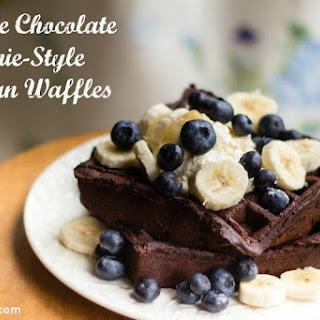 Double Chocolate Brownie-Style Belgian Waffles