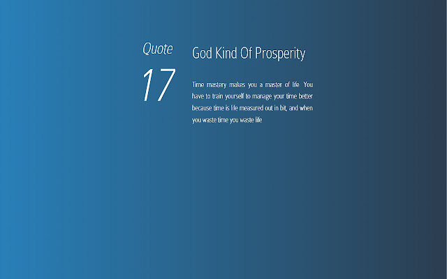The God Kind Of Prosperity