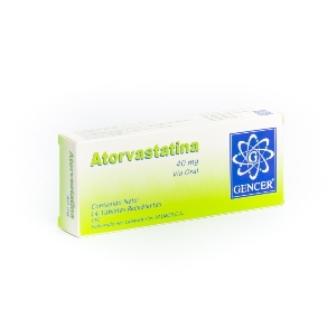Atorvastatina Gencer 40Mg X 20 Tabletas Recubiertas Valmor