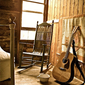 GOOD OLD COUNTRY by Udo Weber - Artistic Objects Musical Instruments ( acustic, old, peaceful, cottage, summer, guitar, gutiar, classic, bedroom, country )