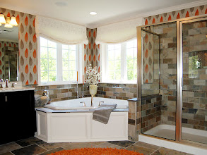 Photo: The master bathroom in our PRESTON model home at Winding Brook Estates in Saratoga, New York