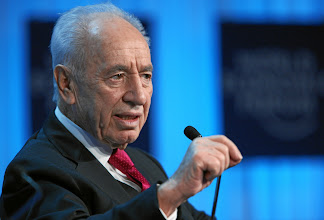 Photo: DAVOS/SWITZERLAND, 26JAN12 - Shimon Peres, President of Israel captured during the session 'Special Conversation: Prospects for Peace in the New Middle East Context' at the Annual Meeting 2012 of the World Economic Forum at the congress centre in Davos, Switzerland, January 26, 2012.Copyright by World Economic Forumswiss-image.ch/Photo by Remy Steinegger