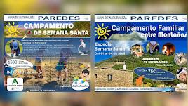 Campamentos de Semana Santa para familias y jóvenes en Aula de Naturaleza Paredes.