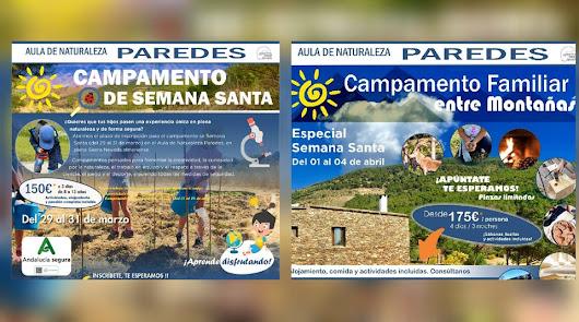 ¡¡Llegan los campamentos de Semana Santa al Aula Naturaleza Paredes !!