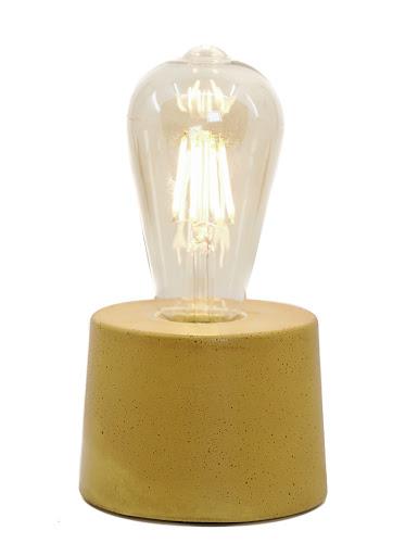 lampe béton design jaune moutarde