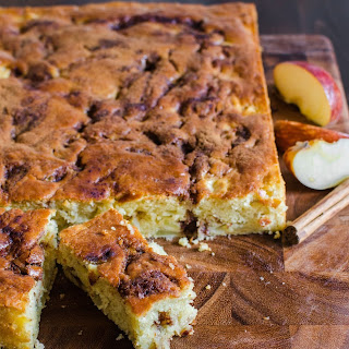Apple Yogurt Cake with a Cinnamon-Sugar Streak