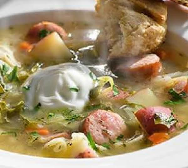 Bavarian Leek & Cabbage Soup