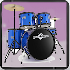 Drums Set with Drum Sticks - Play Rock Jam Tracks icon