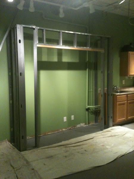 Photo: New closet being built.