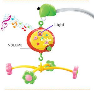 Carusel muzical pentru patut bebe, Musical Baby Mobile