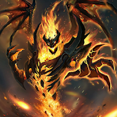 Evil diablo live wallpaper (fantasy, hell, fire)