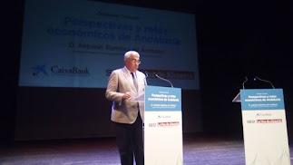 Antonio Ramírez de Arellano durante su intervención