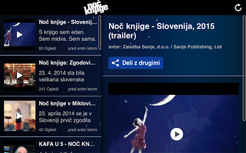 Noč knjige- screenshot thumbnail