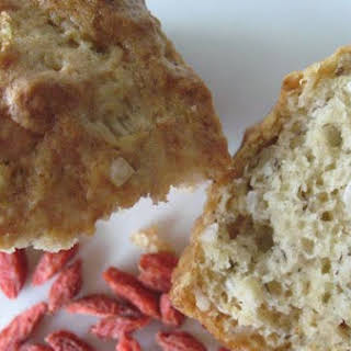 Banana Coconut Loaf With Tibetan Goji Berries.