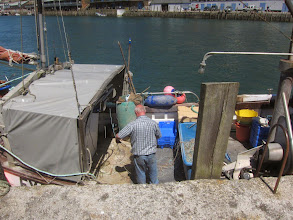 Photo: Looe is a working fishing port.
