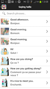 Travel Interpreter Phrasebook Screenshot
