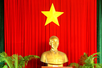 Photo: Day 26 - Statue of Uncle Ho in the Reunification Palace