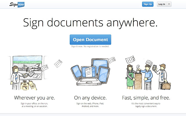 signnow sign and fill pdf word documents chrome web store