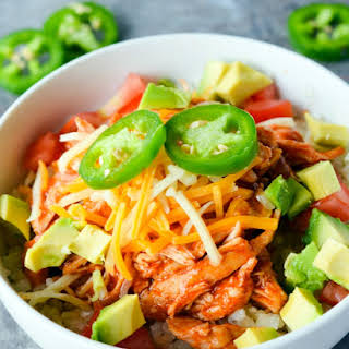 Keto Chicken Enchilada Bowl.