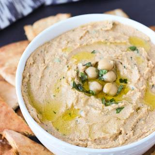 Easy Basil Hummus