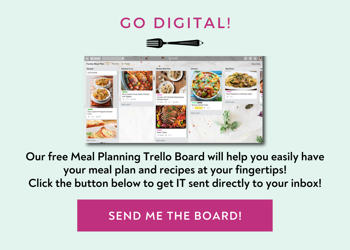 FREE Trello board meal planning