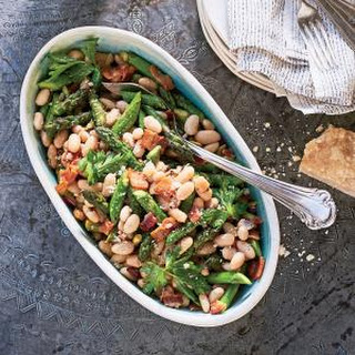 White Bean-Asparagus Salad with Bacon and Thyme