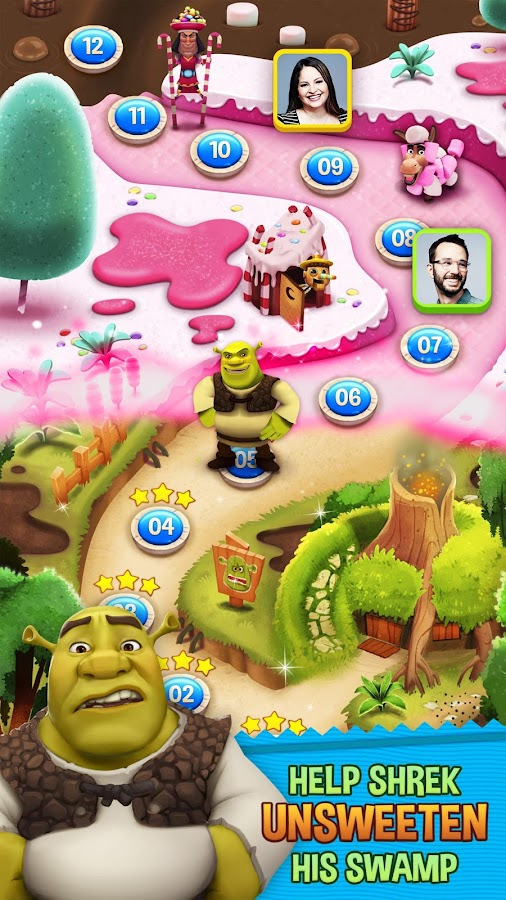Shrek Sugar Fever- screenshot