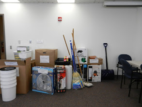 Photo: Shared Disaster Supply Cache for the AFR Pittsburgh group from NEH grant