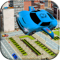 City Futuristic Flying Car icon