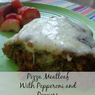Pizza Meatloaf With Pepperoni and Peppers