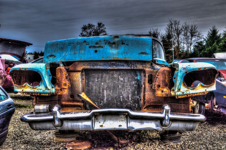 End of days by Seth Brown - Transportation Automobiles ( car, old, automobile, scrap, rust, junk )