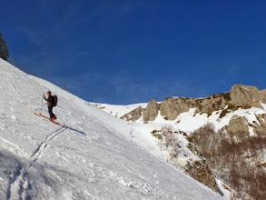 Photo: Risaliamo faticosamente per raggiungere la parte alta della Vallonina