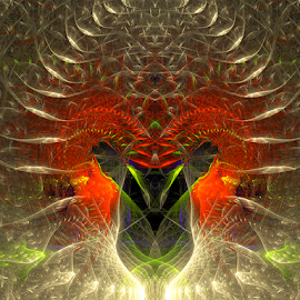 Spiritual Power by Cassy 67 - Illustration Abstract & Patterns ( love, digital, harmony, fractal art, light, fractal, power, abstract, creative, digital art, energy )