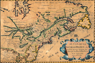Photo: However, the history of maps of the region goes back over 300 years. The Natives of the area never made maps as they didn't need them. The French were the first to make maps, most notably Champlain in 1615. This one was made by Nicholas Sanson in 1667 of New France ...