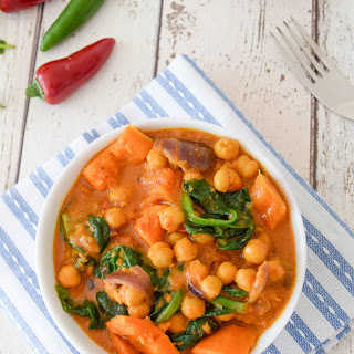 Sweet Potato & Chickpea Curry.