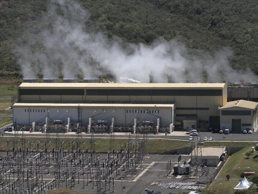 The Olkaria II Geothermal Power Plant in Naivasha. The Kenya's Geothermal Development Company is drilling 10 wellsnew wells over the next in the Olkaria area to generate steam that will add an extra 140MW (megawatts) into the national grid. Photo/ Jack Owuor