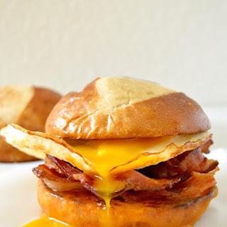 Pretzel Bun Breakfast Sandwich