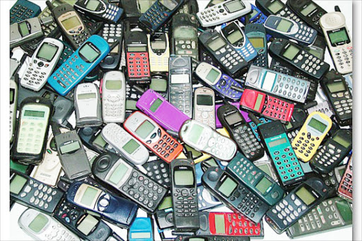 An assortment of mobile phones