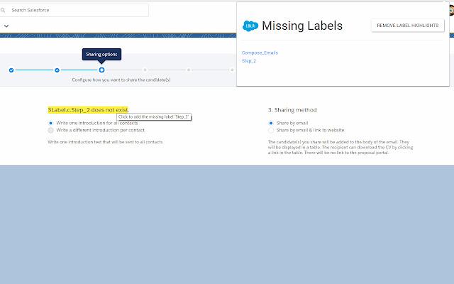 Salesforce Labeler