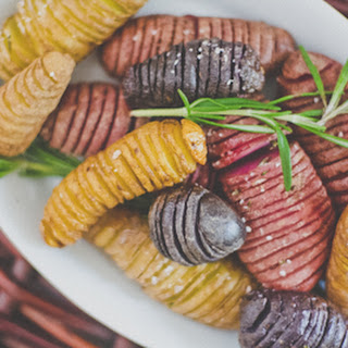 Hasselback Fingerling Potatoes.