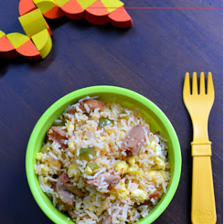Little People Food – Sausage and Egg Fried Rice.