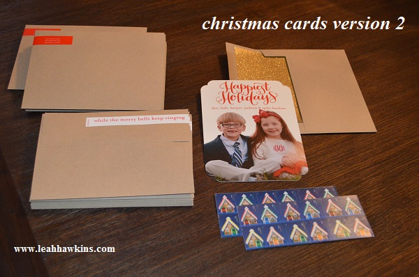 christmas cards, version 2